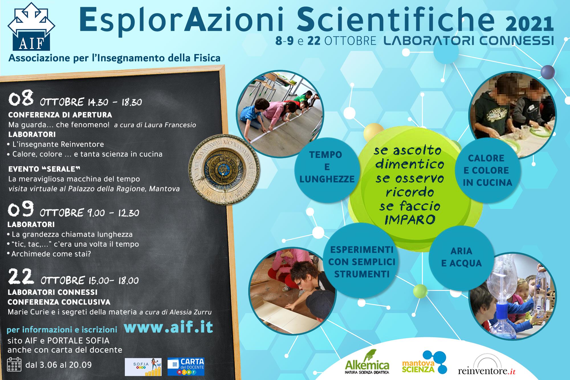 Locandina EsplorAzioni Scientifiche 2021